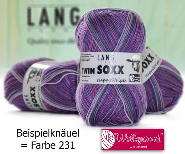 Twin Soxx 4-fach Happy Stripes von LANG YARNS