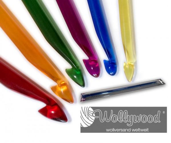 Tunesische Häkelnadel farbiges Acrylglas von Lana Grossa