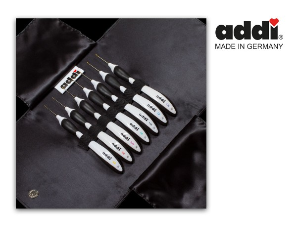 Garnhäkelnadel Etui mit 7 Swing Häkelnadeln von Addi