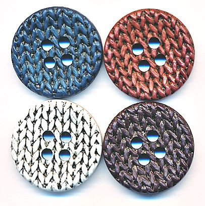 Runder Knopf Strick aus Kunststoff, ca.32mm Ø, von Union Knopf