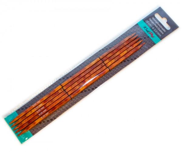 Strumpfstricknadeln Quattro aus Design-Holz von Lana Grossa