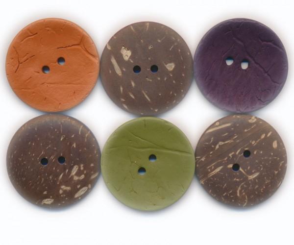 Runder Knopf aus Kokos, ca.30mm Ø, von Union Knopf
