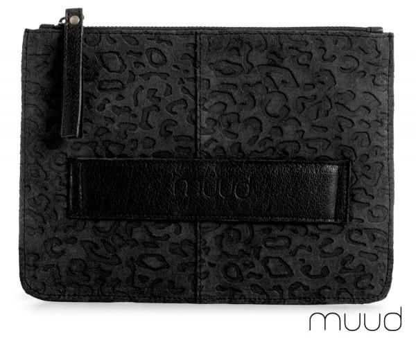 Dust Animal - Handgefertigte Clutch aus Leder von muud (schwarz)