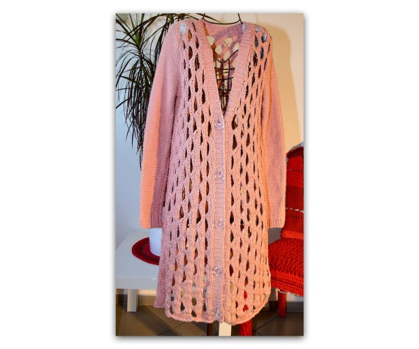 Handgestrickter Sommer Mantel aus Amira von Lang Yarns