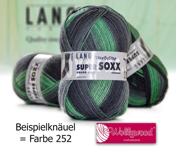 Super Soxx 6-fach Color Step by Step von LANG YARNS