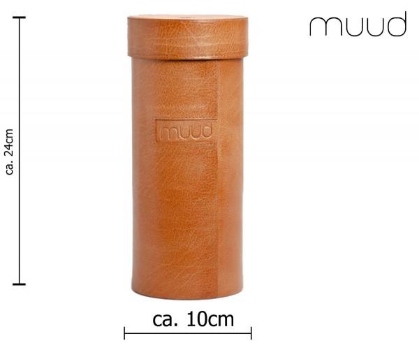 Mountain XL - Handgefertigte Lederbox von muud (whisky)