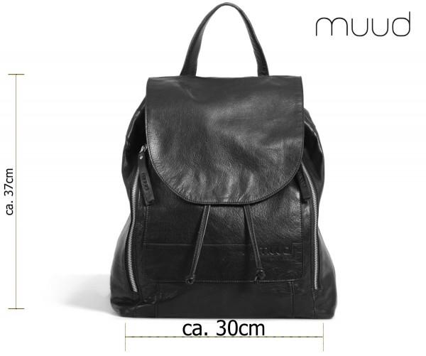 Gimo - Handgefertigter Rucksack aus Leder von muud (schwarz)