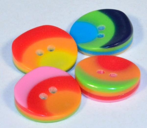Runder, angeschrägter Knopf aus Kunststoff, ca.15mm Ø, von Jim Knopf