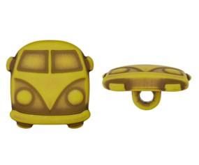 Runder Knopf aus Kunststoff, Bulli grün, ca.18mm Ø, von Union Knopf