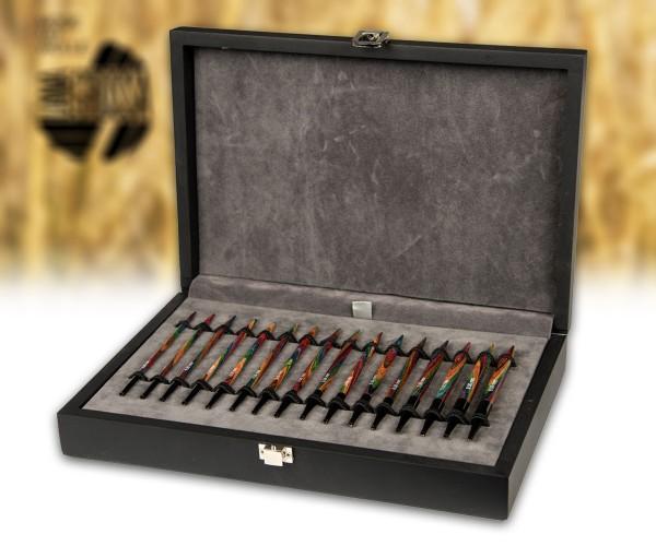 Stricknadel-Set mit austauschbaren Nadelspitzen/-seilen Design-Holz von Lana Grossa