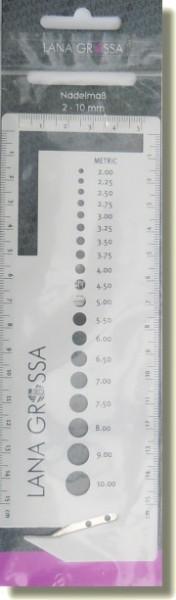 Nadelmaß für Stricknadeln von Lana Grossa