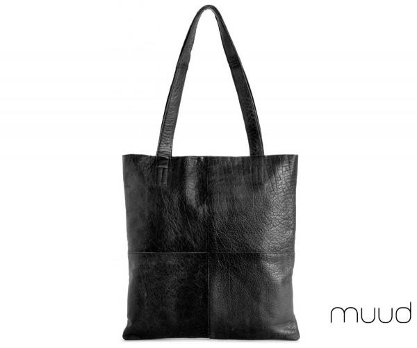 Show Medium - Handgefertigter Ledershopper von muud (schwarz)