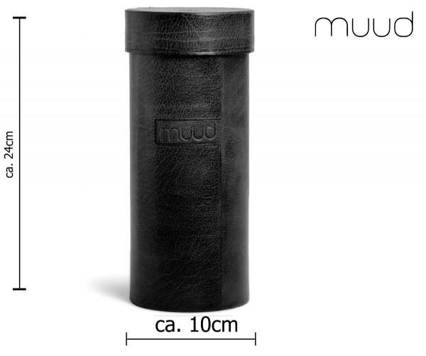 Mountain XL - Handgefertigte Lederbox von muud (schwarz)