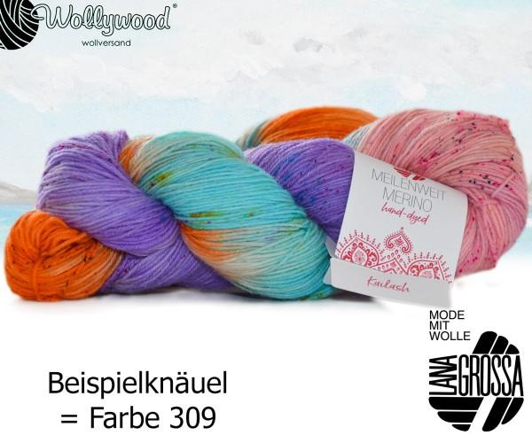 Meilenweit 4-fach 100g Merino Hand-Dyed von Lana Grossa