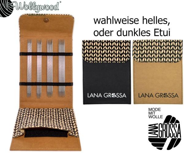 Strumpfstricknadel-Set (15cm) Edelstahl von Lana Grossa