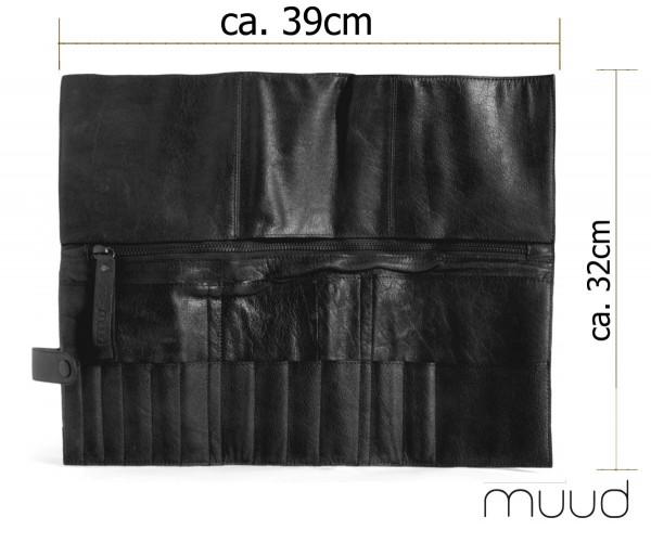 Stockholm - Handgefertigtes Lederetui für Nadelspitzen und -Seile von muud (schwarz)