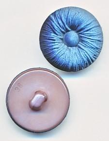 Runder Knopf, Stoffoptik, jeans/blau, Kunststoff, ca.23mm Ø