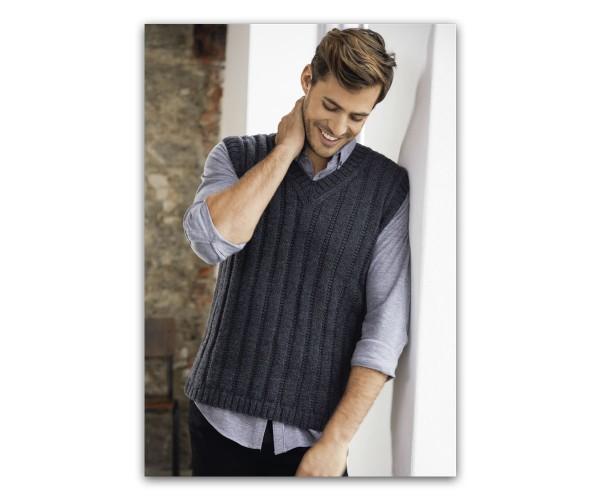 Materialpaket incl. Anleitung Herrenpullunder Cool Wool Mélange