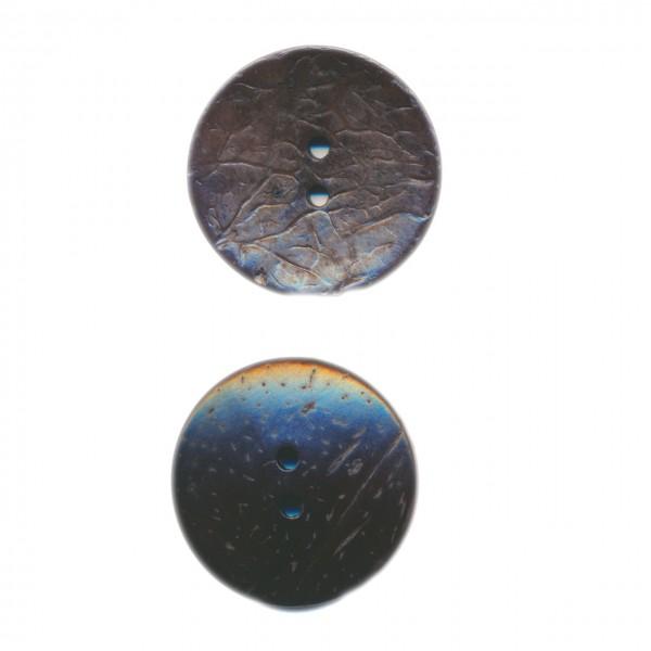 Schwarz gefärbter Knopf aus Cocos