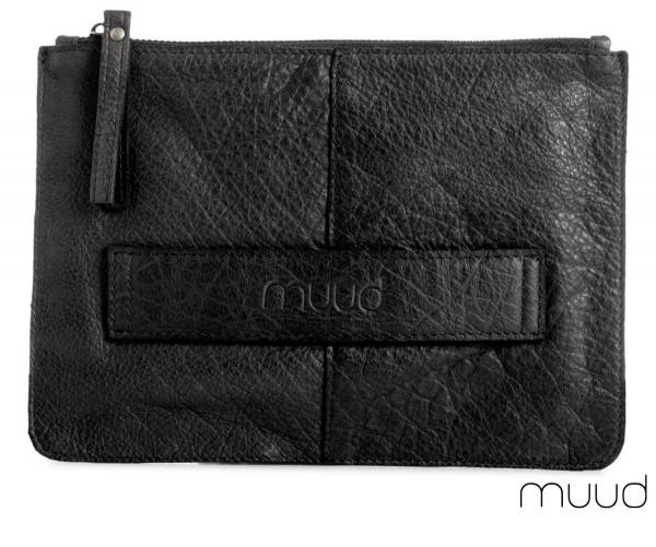 Dust - Handgefertigte Clutch aus Leder von muud (schwarz)