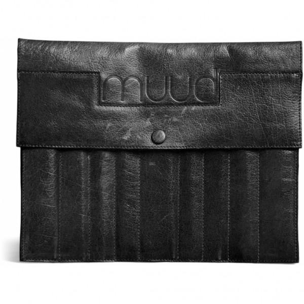 Oslo XL - Handgefertigte Ledertasche für Strumpfnadeln von muud (schwarz)