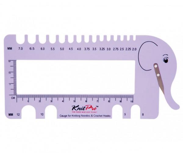 Nadelmaß lilac für Strick- und Häkelnadeln von KnitPro