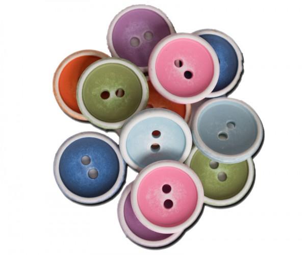 Runder Knopf aus Kunststoff, ca.17mm Ø, von Jim Knopf
