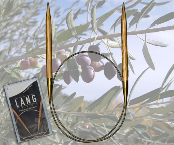 Rundstricknadeln aus Olivenholz von Addi