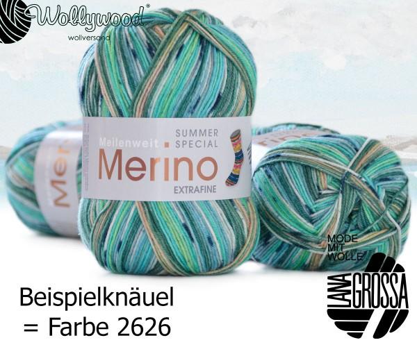 Meilenweit 4-fach 100g Merino extrafine - Summer Special von Lana Grossa