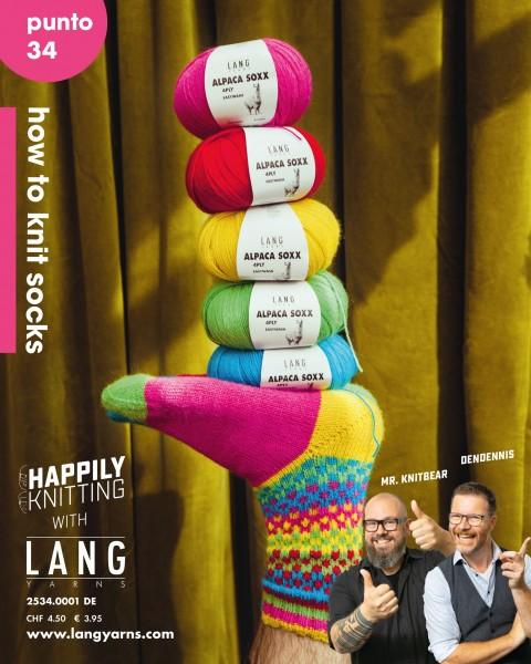 Punto 34 how to knit socks - LANG YARNS, Herbst 2021