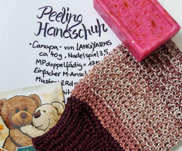 Gratisanleitung Peeling Handschuh