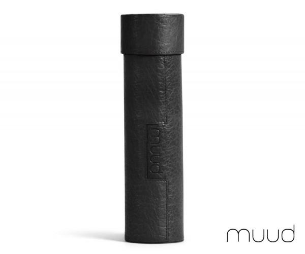 Upsala - Handgefertigte Lederbox von muud (schwarz)