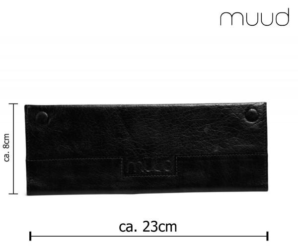 Hattie - Handgefertigte Leder-Nadeltasche von muud (schwarz)