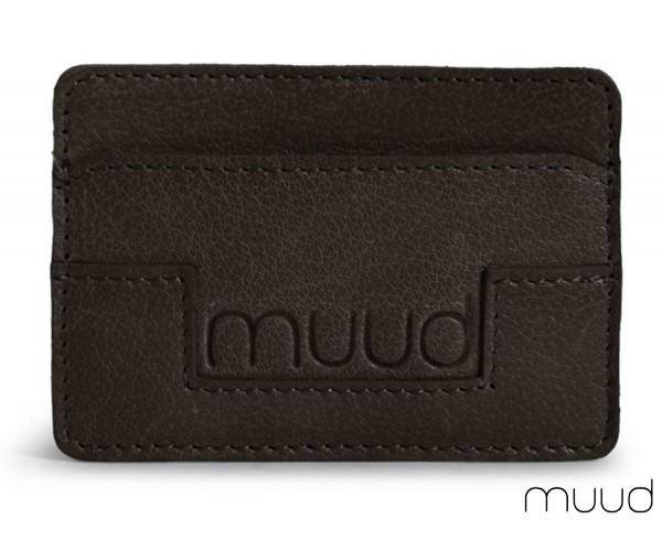 Colorado - Handgefertigtes Kreditkarten-Etui aus Leder von muud (schwarz)