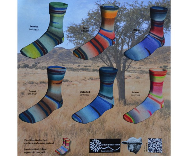 Twin Soxx 4-fach Style of Africa von LANG YARNS