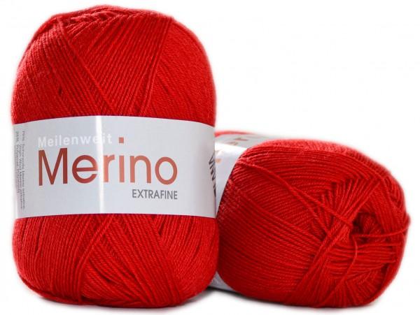 Meilenweit 4-fach 100g Merino extrafine Uni von Lana Grossa